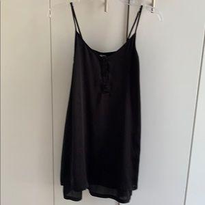 Villa Size S Black Thigh Length Camisole